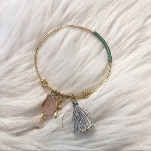 Gold String Wrapped Bracelet